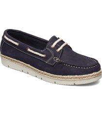 woms lace-up sandaletter expadrilles låga blå tamaris