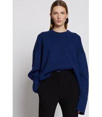 proenza schouler eco cashmere oversized sweater cobalt/blue l
