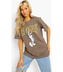 tall gelicenseerd la bugs bunny t-shirt, charcoal