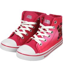 zapatilla brillo en la oscuridad caña alta rosa lol the brands club
