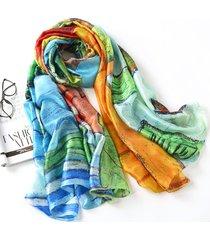 lyza 180cm thin soft sciarpe a scialle lungo e caldo con sciarpe colorate per donne