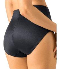 panty clásico de control suave con efecto levantacolas - panty negro leonisa