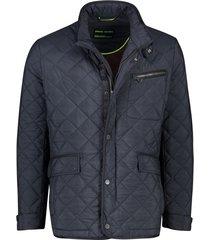 pierre cardin jas donkerblauw structuur ruit