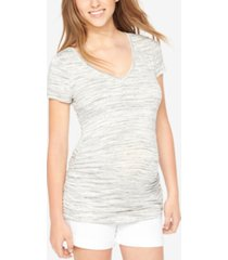 motherhood maternity ruched tee