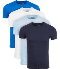 alfani men's 4-pk. crewneck undershirts, created for macy's