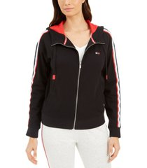 tommy hilfiger sport drop-shoulder zip hoodie