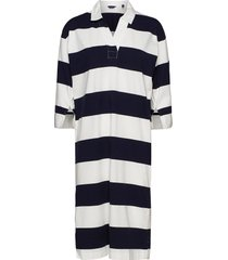 d1. feminine striped rugger dress knälång klänning blå gant