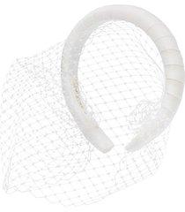 jennifer behr attica voilette headband - white