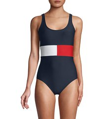 scoopneck one-piece swimsuit