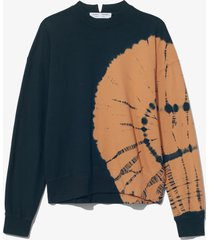 proenza schouler white label tie dye sweatshirt blk/toast bullseye tie dye/black s