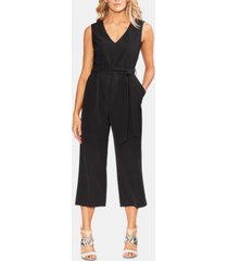 vince camuto belted cropped jumpsuit