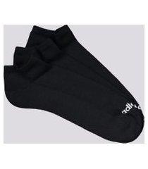 kit meia adidas no show cano curto 3 pares preta