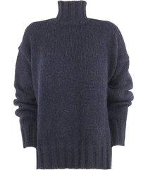 dondup blue alpaca sweater