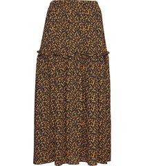 fiji maxi skirt knälång kjol gul just female
