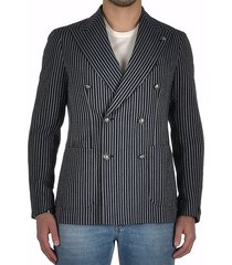 double breasted cotton pinstripe jacket