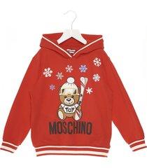 moschino teddy snow hoodie