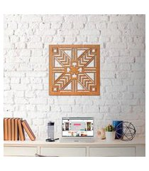 escultura de parede wevans geométrico madeira