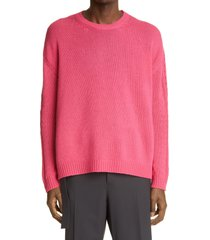 men's valentino men's cashmere sweater, size x-large - pink