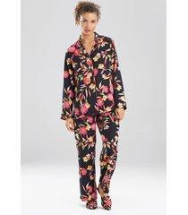 natori seville pajamas, women's, black, size l natori