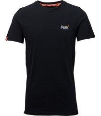 orange label vntge emb s/s tee t-shirts short-sleeved svart superdry