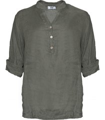 tiffany shirt linen, army, 17661