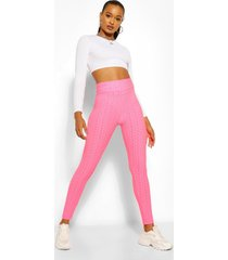 textured fitted legging, pink
