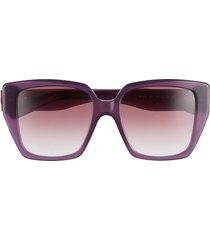 salvatore ferragamo vara 55mm square sunglasses - opaline violet/purple gradient