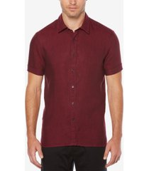 perry ellis men's linen textured shirt