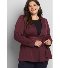 lane bryant women's soft jacket with tie 12 winetasting
