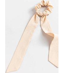 wendy long thin pony scarf - beige