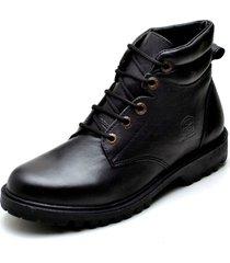 bota clube do sapato de franca coturno  strong  preto - kanui