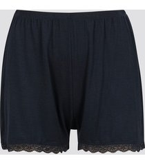 pyjamasshorts med spetskant - svart
