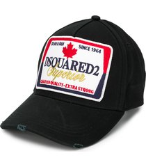 dsquared2 stitched logo cap - black