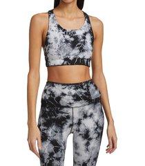 electric & rose women's wynnie thunderstrike sports bra - onyx cloud - size xs