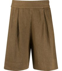 aspesi wide leg shorts - brown