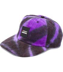 neighborhood tie-dye corduroy cap - purple