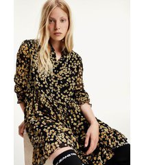 tommy hilfiger women's recycled tiered a-line dress floral print - l