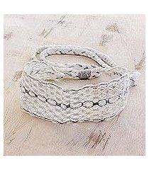 cotton macramé headband, 'eyelets' (costa rica)