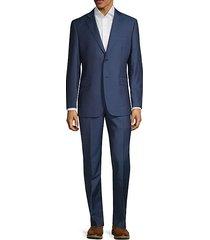 slim-fit wool & silk suit