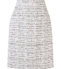 giambattista valli high-rise tweed pencil skirt - white