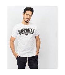 camiseta masculina superman writing emporio alex malha branco