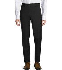 nhp men's plaid dress suit separates trousers - black - size 40
