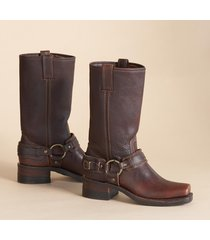 women's frye belted harness boots