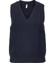 sc-blissa vests knitted vests blå soyaconcept