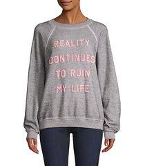 reality graphic sweatshirt