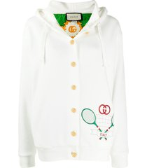 gucci gucci tennis cardigan - white
