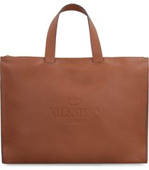 valentino identity leather tote - valentino garavani