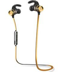 audífonos bluetooth, s3 auriculares inalámbricos audifonos bluetooth manos libres  auriculares impermeables auriculares estéreo bajo auriculares potable auriculares deportivos con micrófono (oro)