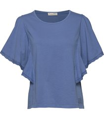 flowy top t-shirts & tops short-sleeved blå odd molly
