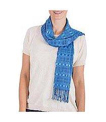 rayon scarf, 'sky weave' (guatemala)